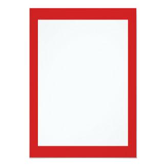 Firebrick Red Solid Color 13 Cm X 18 Cm Invitation Card