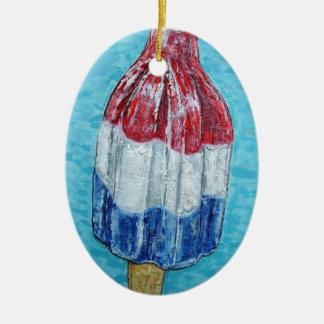firecracker bomb popsicle art original painting christmas ornament