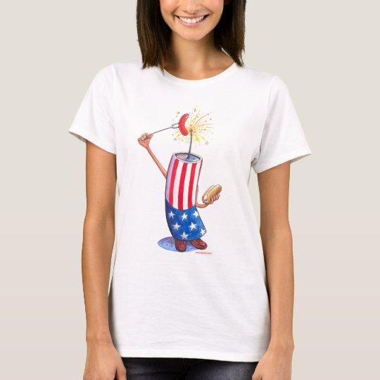 firecracker July 4th hotdog T-Shirt