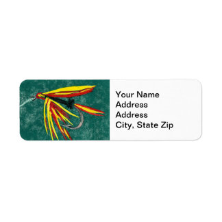 Firecracker Trout Fly Return Address Label