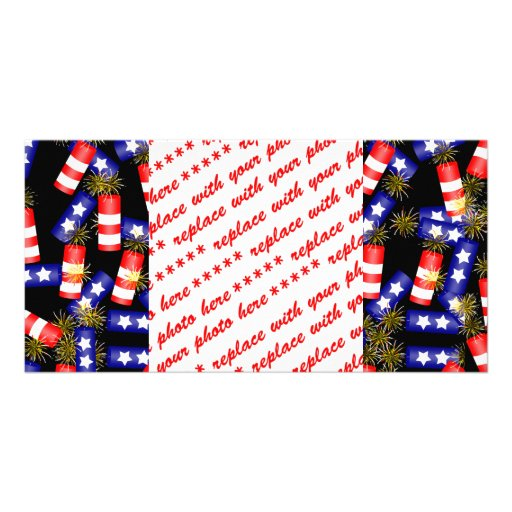 Firecrackers for the 4th of July Photo Greeting Card