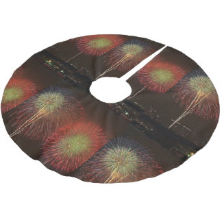 Firecrackers, Tree Skirt, Brushed Polyester Brushed Polyester Tree Skirt