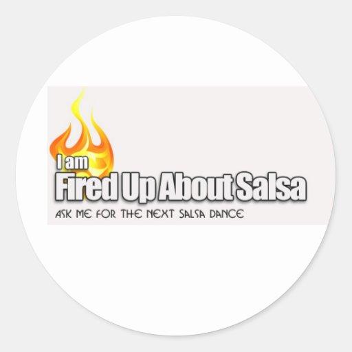 Fired up about salsa sticker