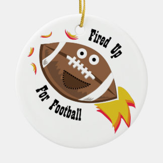 Fired Up Double-Sided Ceramic Round Christmas Ornament