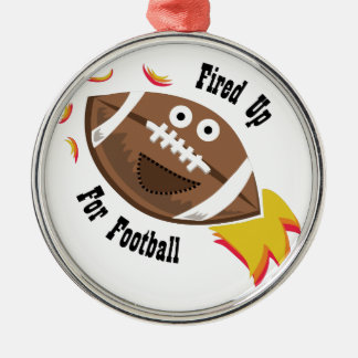 Fired Up Round Metal Christmas Ornament