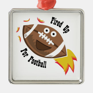Fired Up Square Metal Christmas Ornament