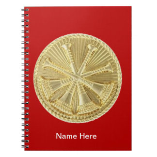 Firefighter 4 Bugle Gold Medallion Notebook