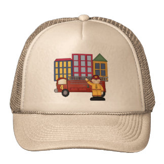 Firefighter 4th Birthday Gifts Cap