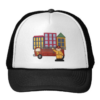 Firefighter 5th Birthday Gifts Mesh Hats