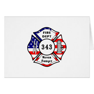 Firefighter 9/11 Never Forget 343 Card