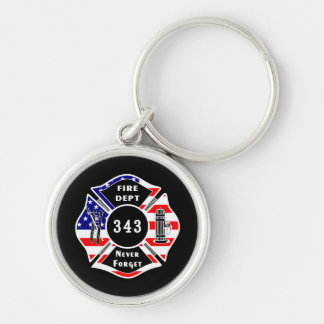 Firefighter 9 11 Never Forget 343 Key Chain
