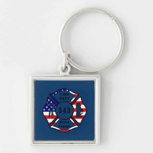Firefighter 9/11 Never Forget 343 Key Chains