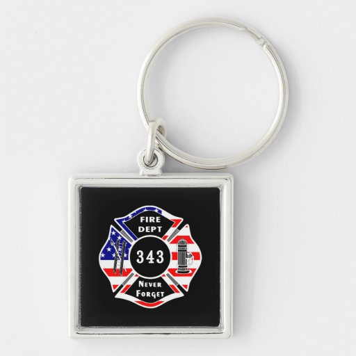 Firefighter 9/11 Never Forget 343 Key Chain