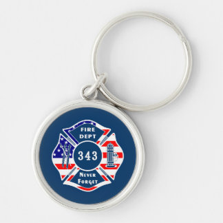 Firefighter 9/11 Never Forget 343 Key Ring