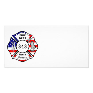 Firefighter 9 11 Never Forget 343 Photo Card Template