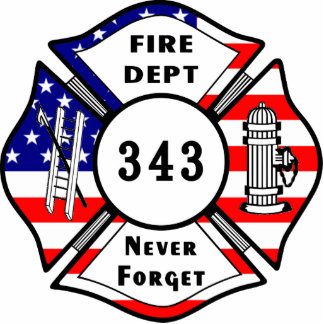 Firefighter 9 11 Never Forget 343 Acrylic Cut Out