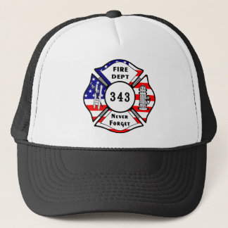 Firefighter 9/11 Never Forget 343 Trucker Hat