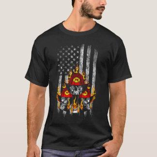 Firefighter American Flag T-Shirt