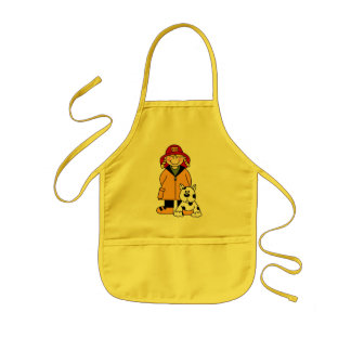 Firefighter and Dog Kids Apron