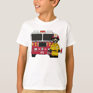 Firefighter and Fire Engine Tee