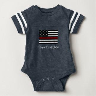 Firefighter Baby Football Bodysuit