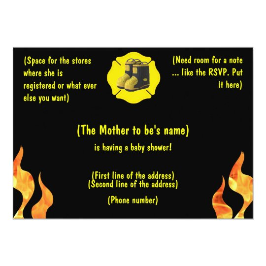 Firefighter Baby Shower Invitation