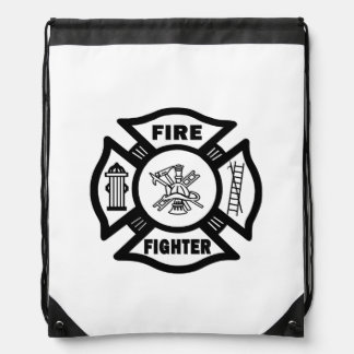 Firefighter Drawstring Bags