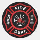 Firefighter Badge Classic Round Sticker
