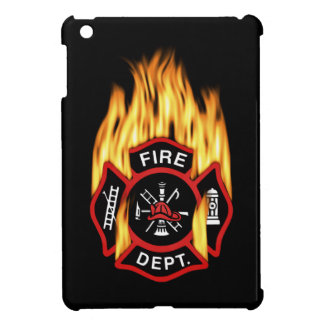 Firefighter Badge Flaming iPad Mini Covers