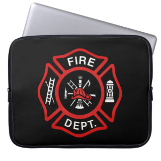 Firefighter Badge Red Computer Sleeve