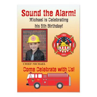 Firefighter Birthday Party Invitation