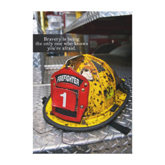 Firefighter Bravery Canvas Art Stretched Canvas Print
