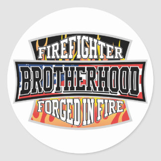 Firefighter Brotherhood Round Sticker