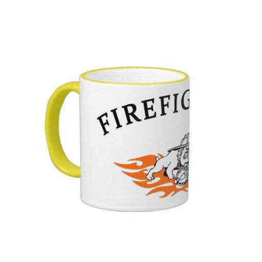 Firefighter Bull Dog Tough Coffee Mug