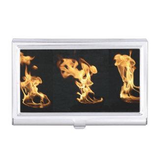 Firefighter Burning Fire Flames Gift for Firemen Business Card Holder