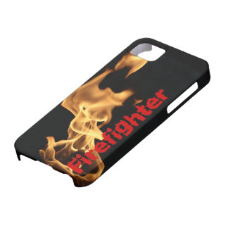 Firefighter Burning Fire Flames Gift for Firemen iPhone 5 Case