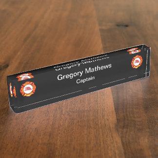 Firefighter Captain Desk Name Plates