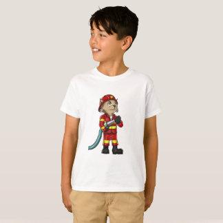 Firefighter Cat Kids T-Shirt