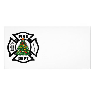 Firefighter Christmas Fire Dept Photo Card