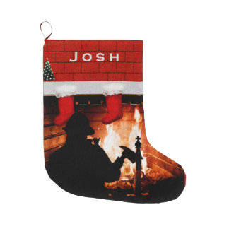 Firefighter Christmas Large Christmas Stocking