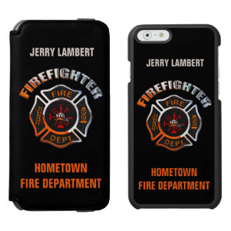 Firefighter Chrome Name Template Incipio Watson™ iPhone 6 Wallet Case