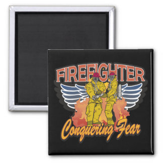 Firefighter Conquering Fear Magnet