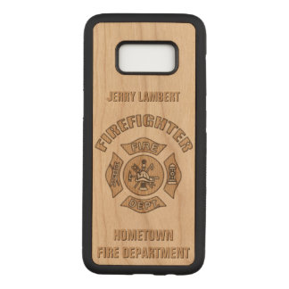 Firefighter Custom Template Carved Samsung Galaxy S8 Case