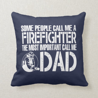 FIREFIGHTER DAD CUSHION