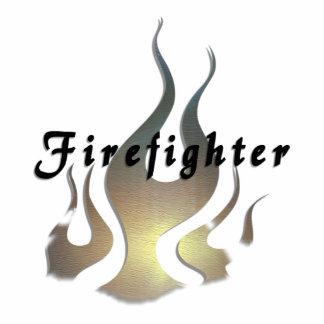Firefighter Decal Photo Sculpture Magnet
