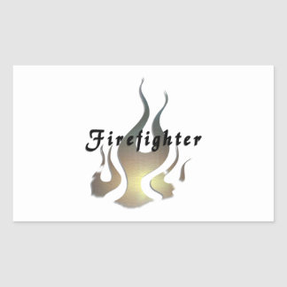 Firefighter Decal Rectangular Sticker