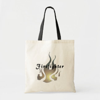 Firefighter Decal Tote Bags