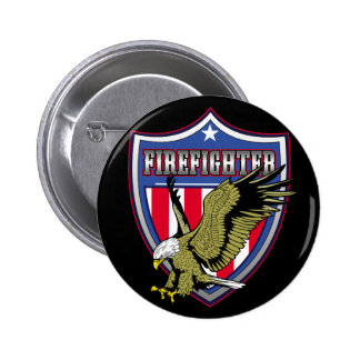 Firefighter Eagle Shield 6 Cm Round Badge