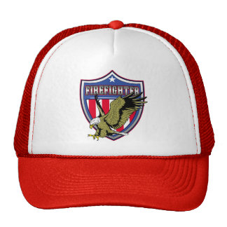 Firefighter Eagle Shield Hats