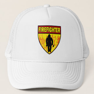 FIREFIGHTER EMBLEM TRUCKER HAT